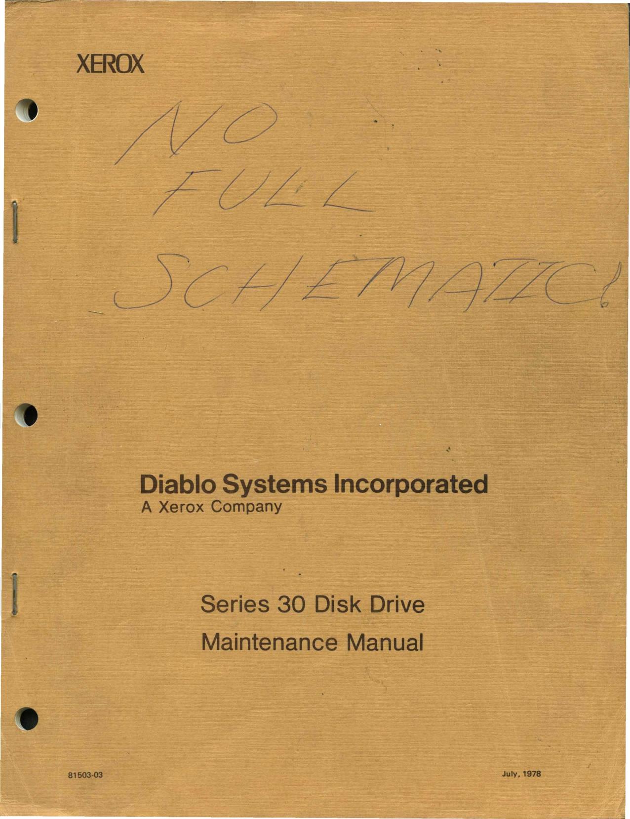 81503-03_Series_30_Disk_Drive_Maintenance_Jul78.pdf | Manualzz