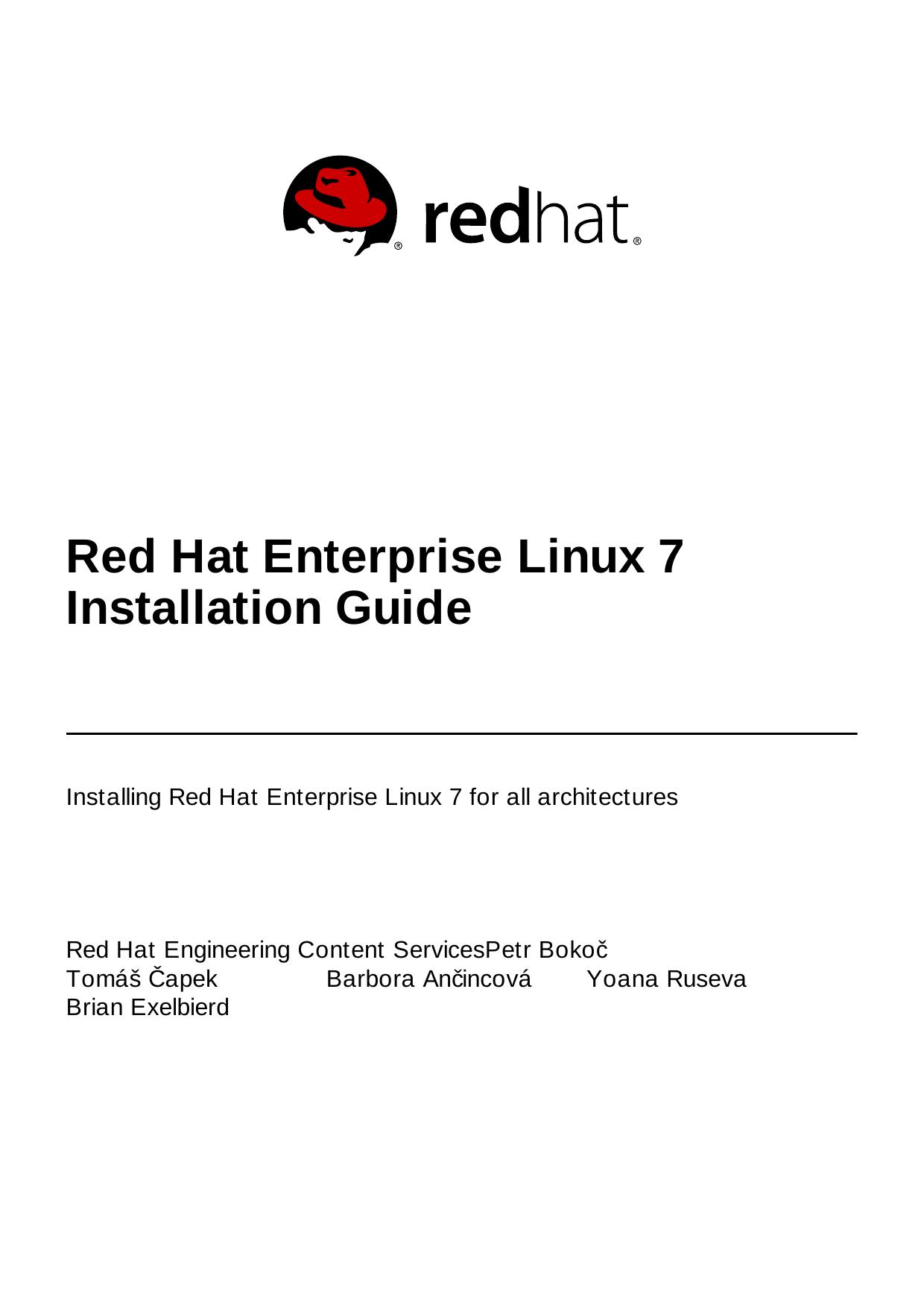 Red Hat Enterprise Linux 7 Installation Guide   manualzz com