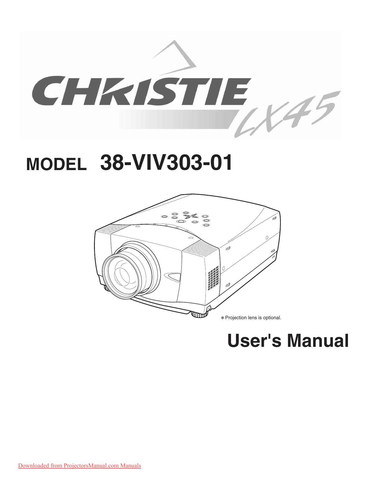 christie lx45 manual
