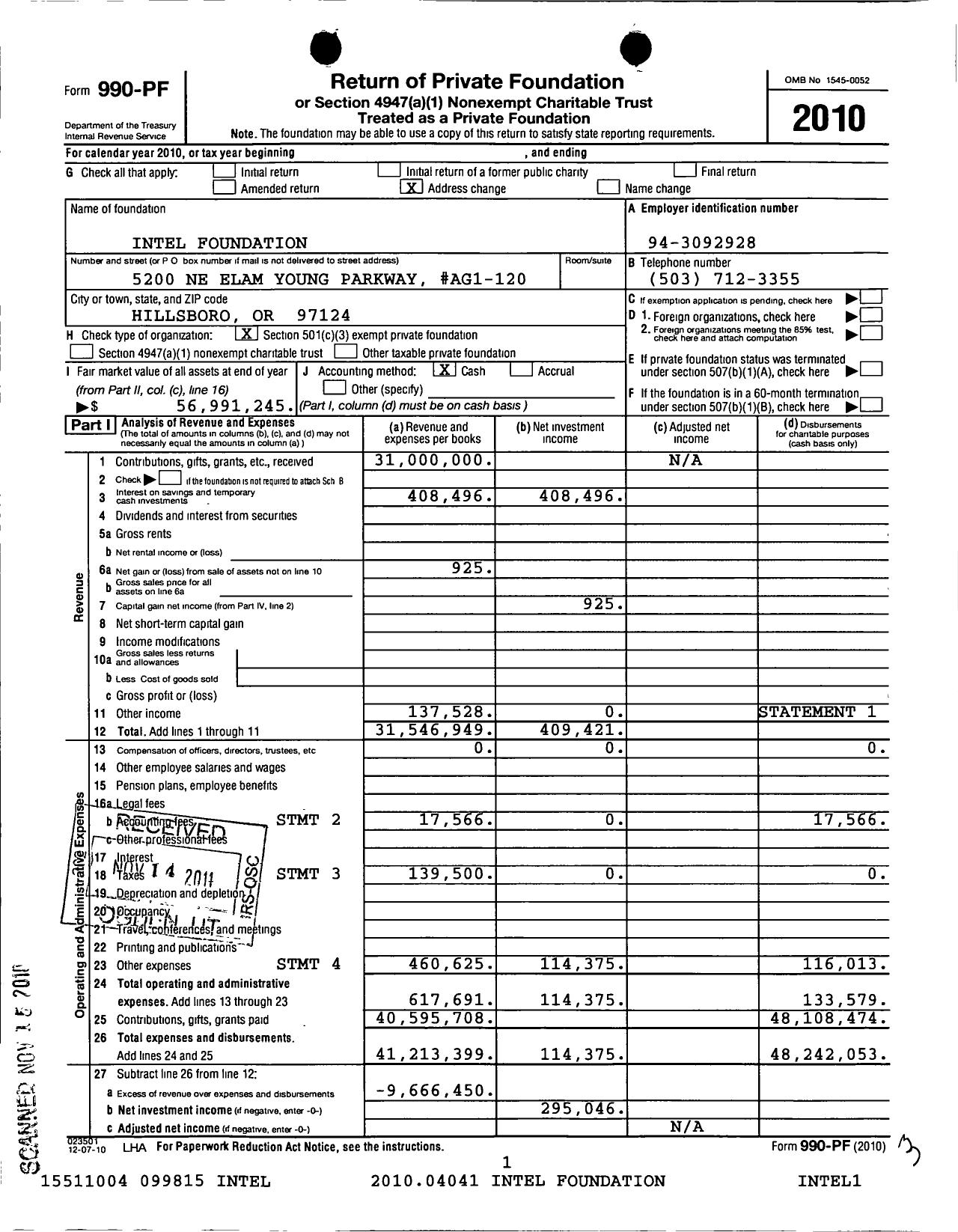 Form 990-PF Return of Private Foundation | manualzz com