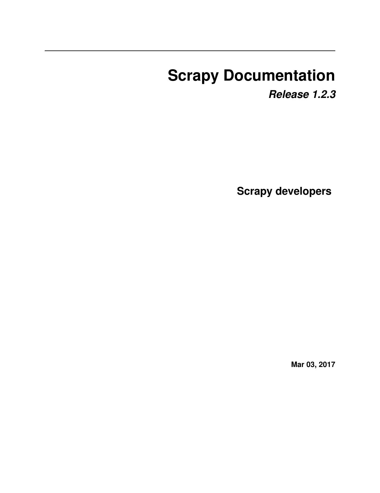 Scrapy Documentation   manualzz com