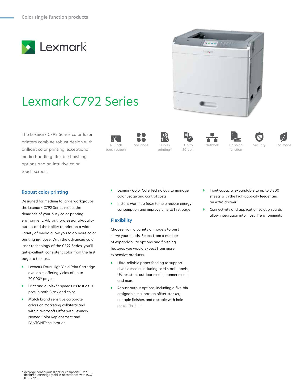 Lexmark C792 Series | manualzz com