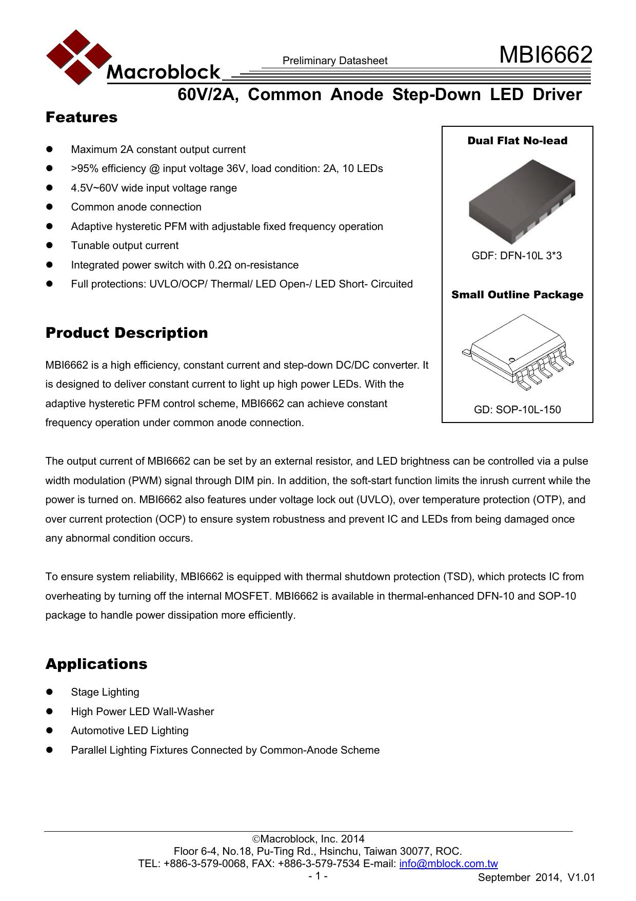 Mbi6662 Niviss Adjustable Constant Current Load