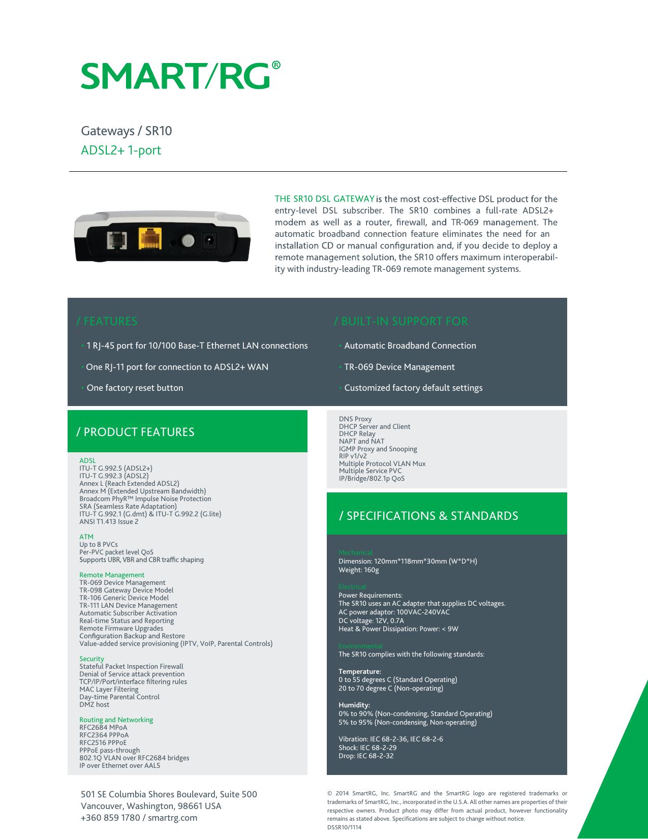 SR10 ADSL2+ 1 | manualzz com