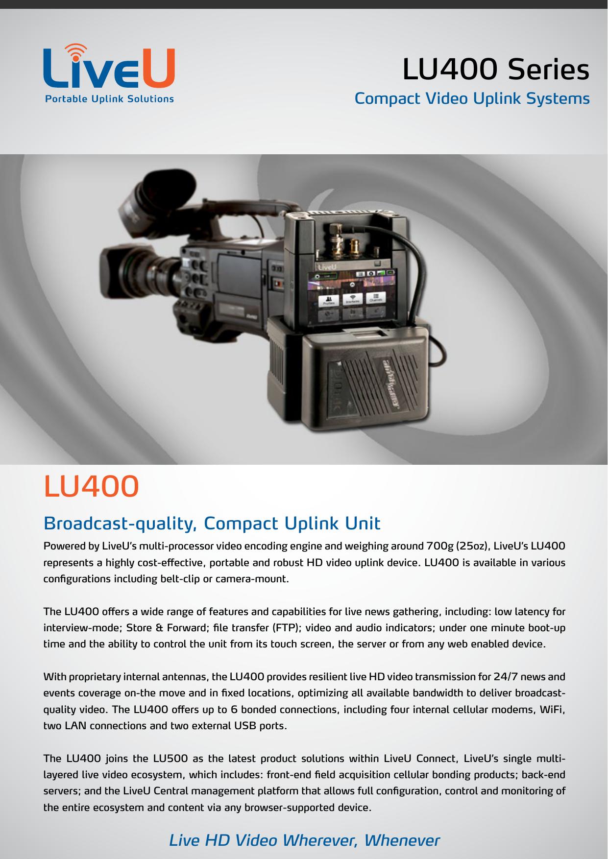 LU400 Series LU400 | manualzz com