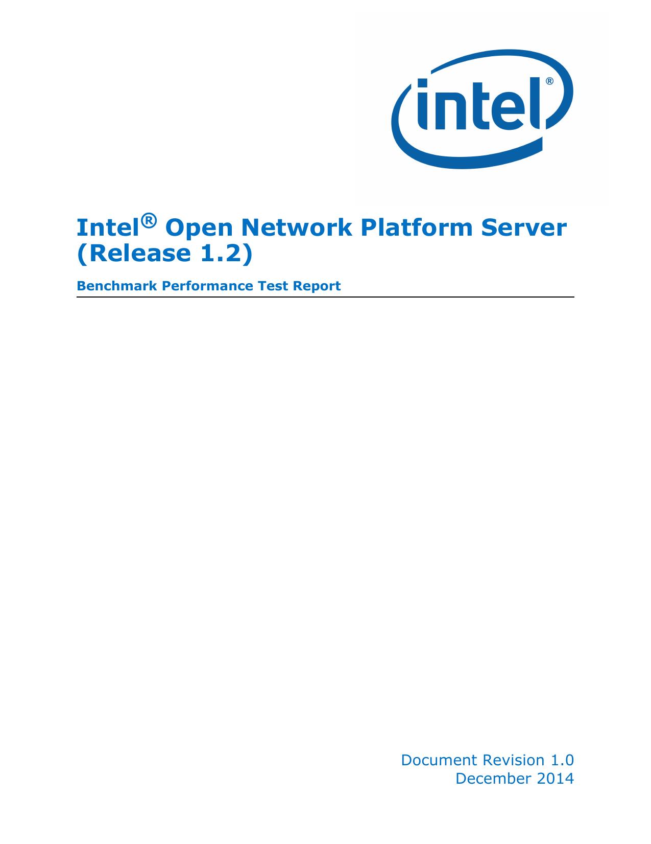 Intel Open Network Platform Server (Release 1 2) | manualzz com