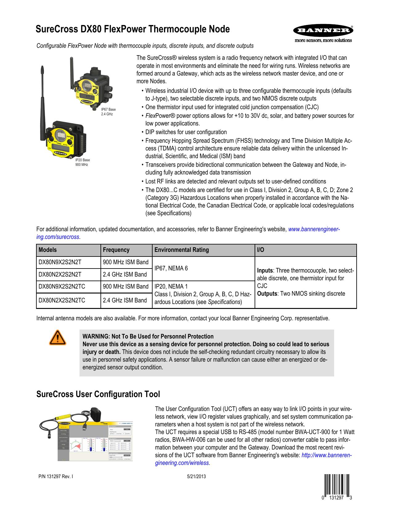 DX80N2X2S2N2T - Banner Engineering | manualzz com