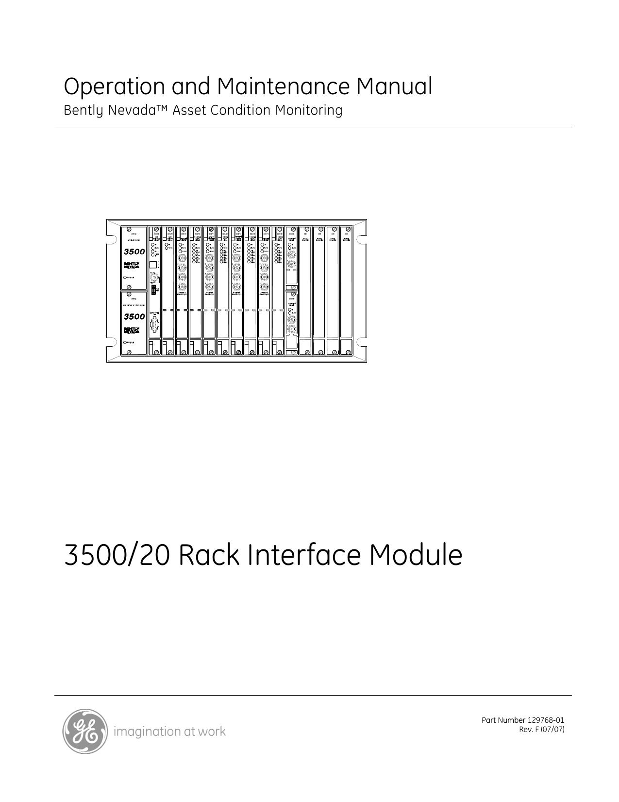 3500/20 rack interface module