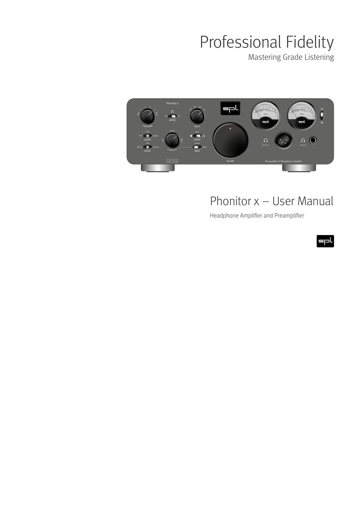 Professional Fidelity Headphone Amplifier Based Opa134pa