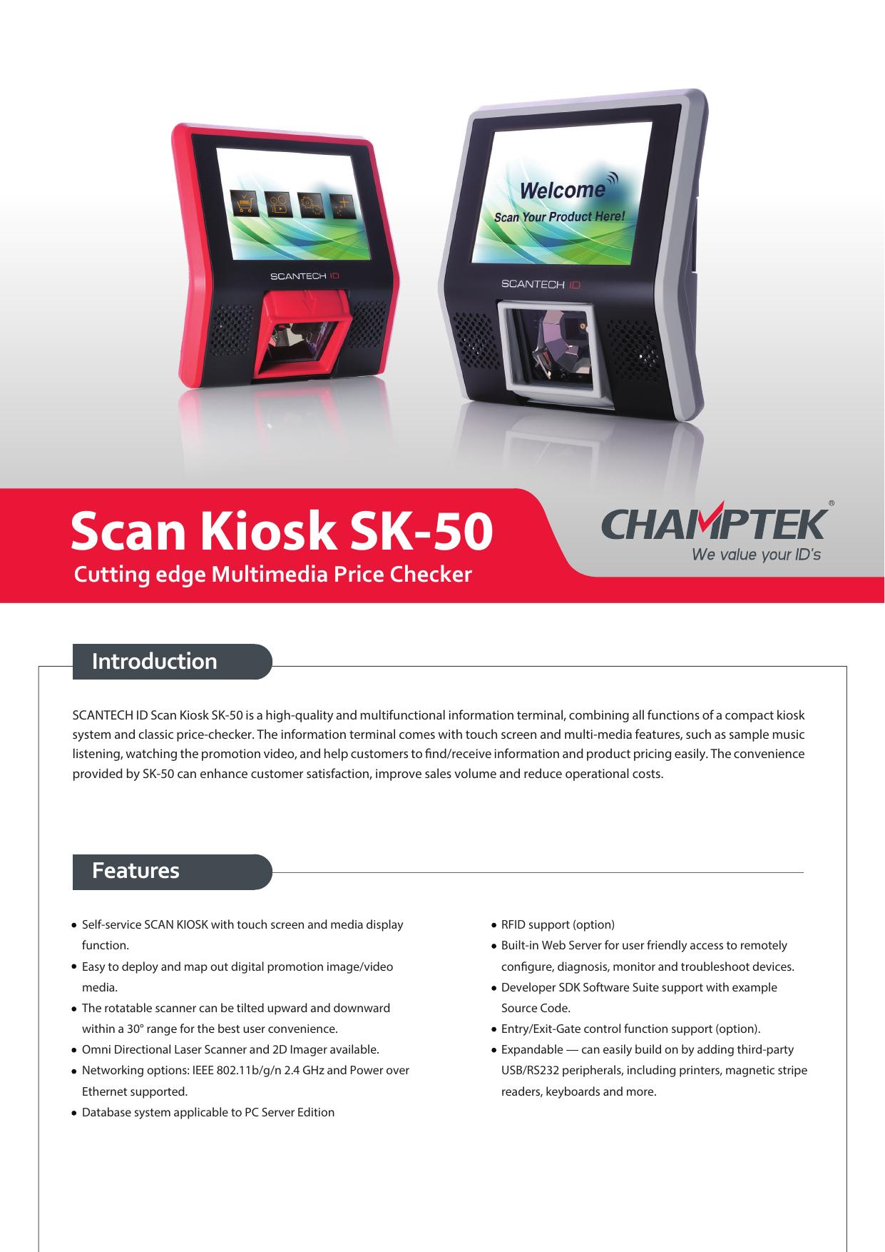 Scan Kiosk SK-50 | manualzz com