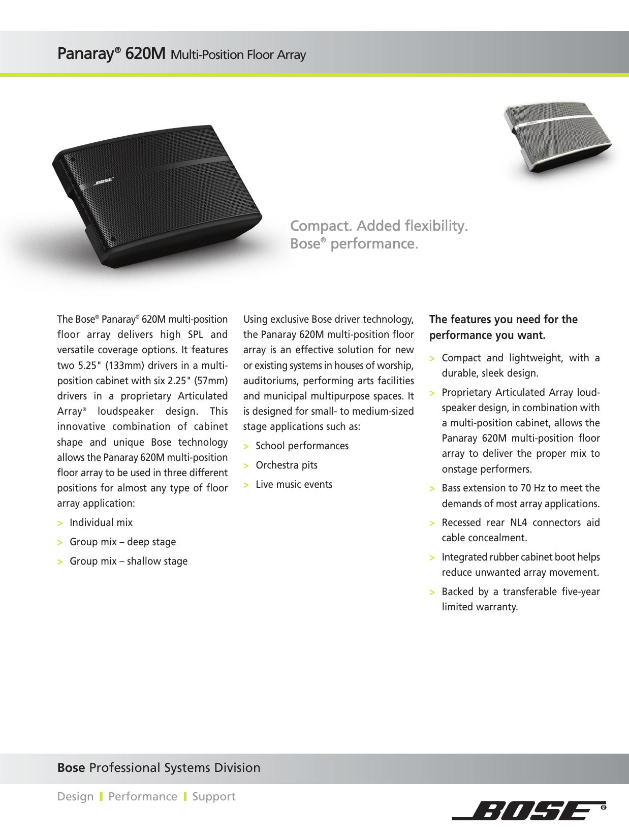 Compact  Added flexibility  Bose® performance  | manualzz com