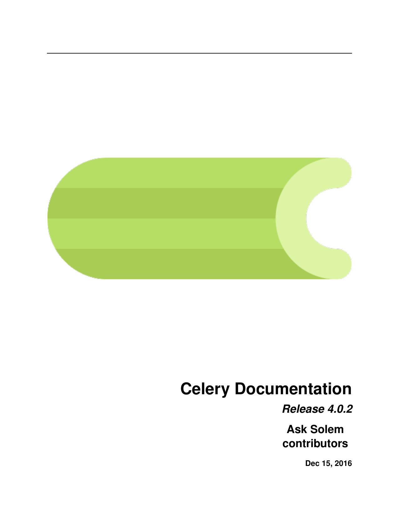 Celery Documentation   manualzz com