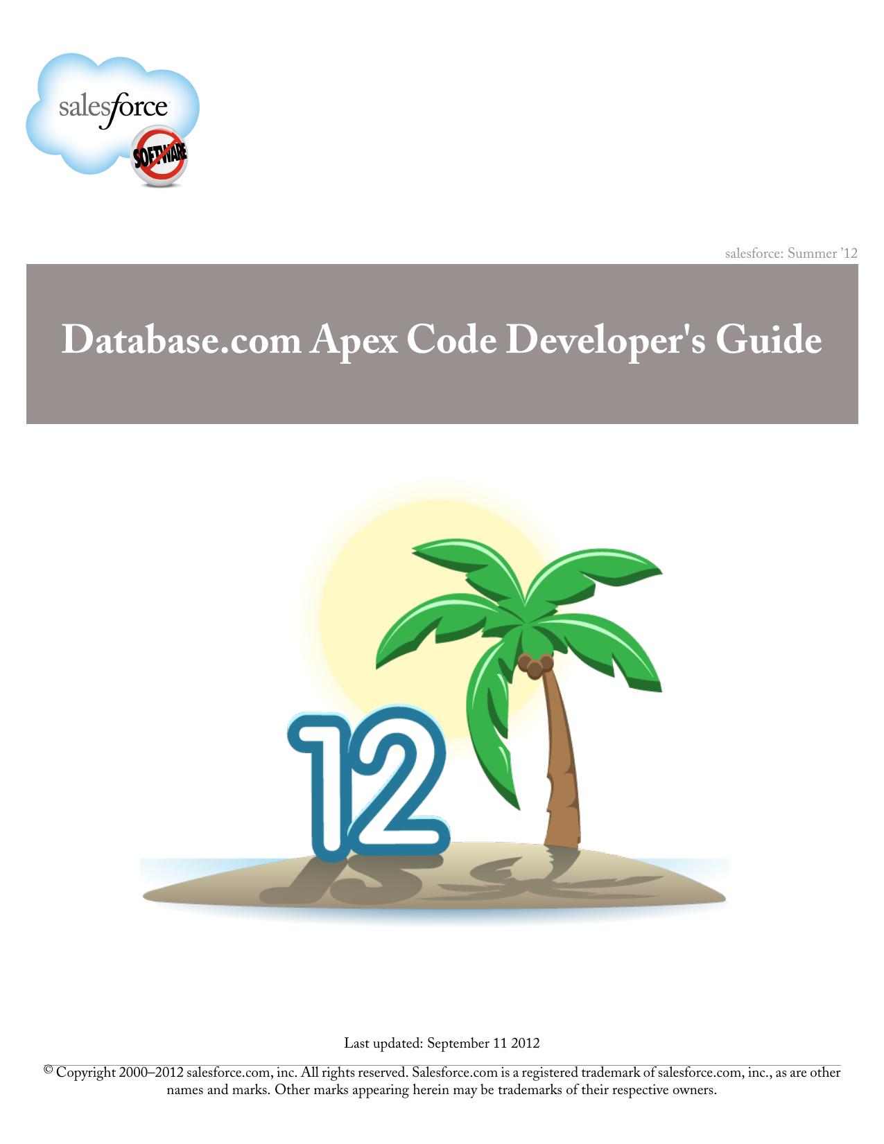 Database com Apex Code Developer`s Guide | manualzz com