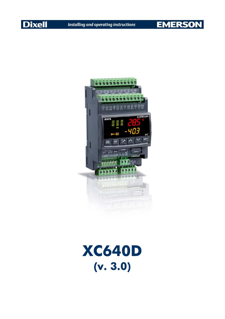 XC640D - Emerson Climate Technologies | manualzz com