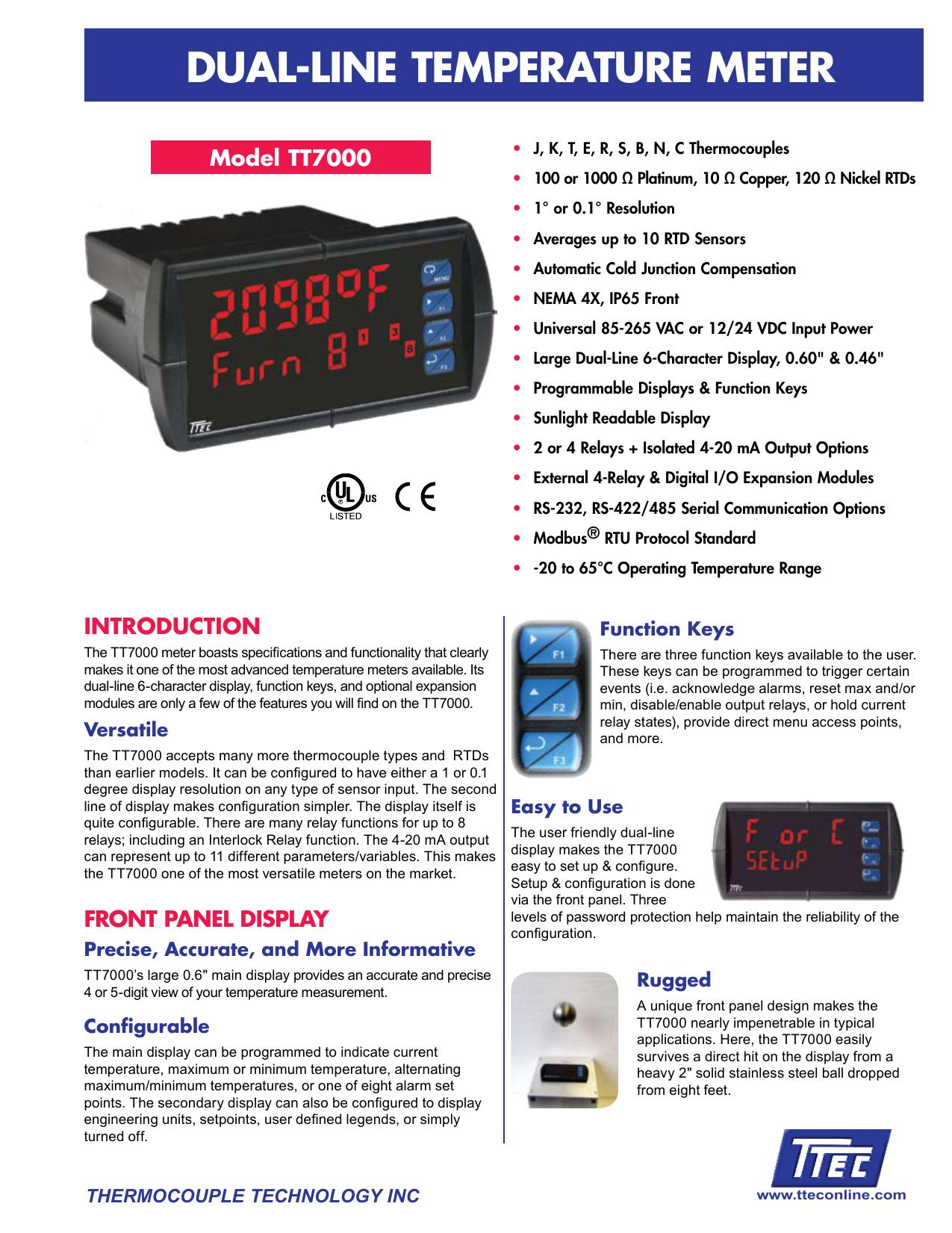 Dual-line temperature meter | manualzz com