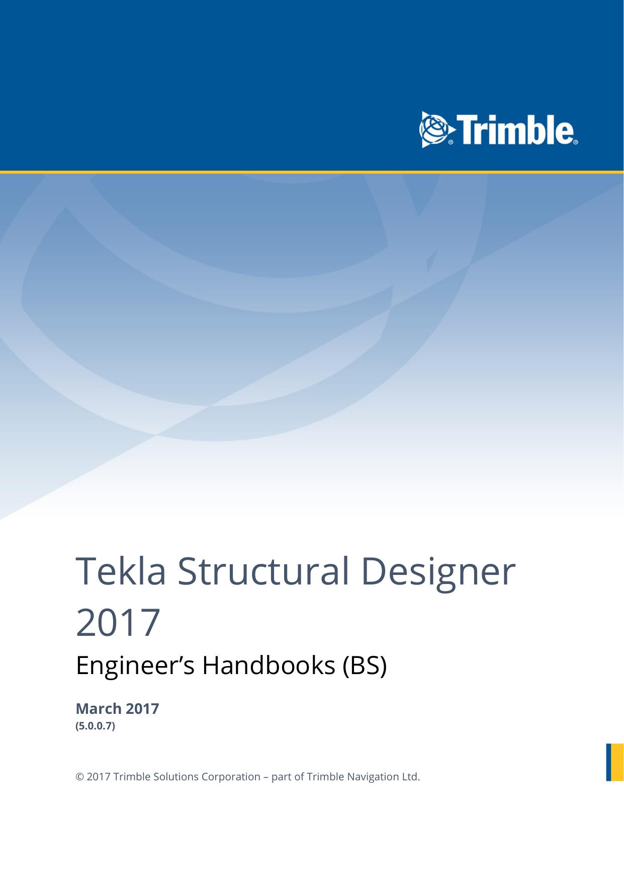 Engineer S Handbook Tekla Structural Designer Manualzz