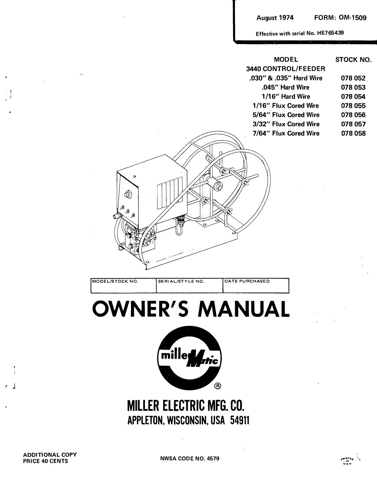 Owners Miller Welding 6 Pin Plug Wiring Diagram