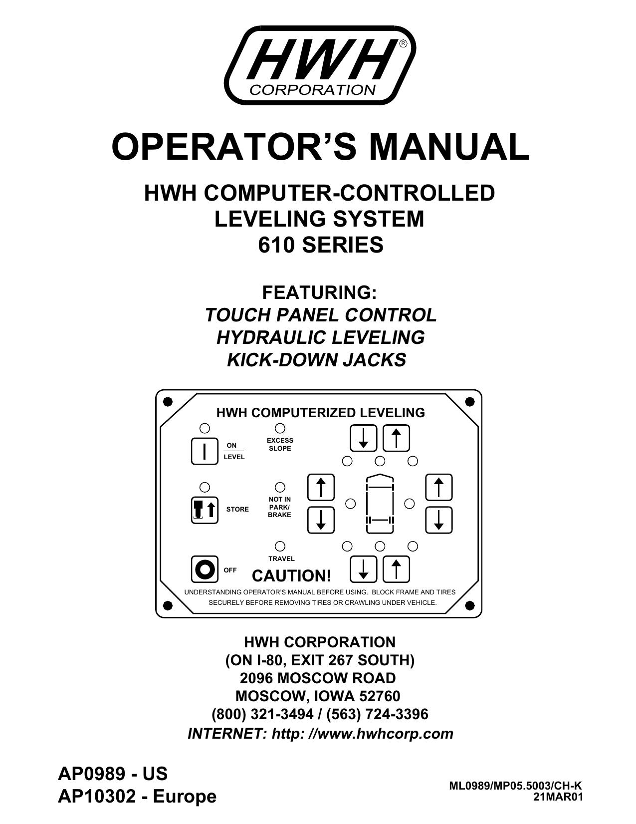 ML0989 - HWH Corporation | manualzz com