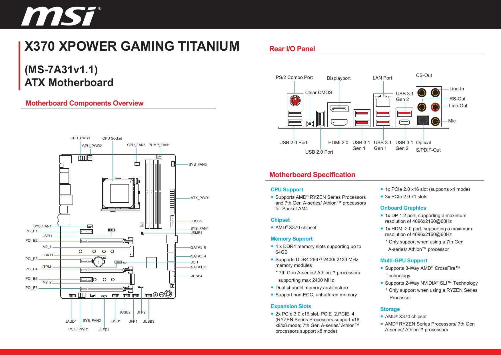 X370 Xpower Gaming Titanium Manualzz