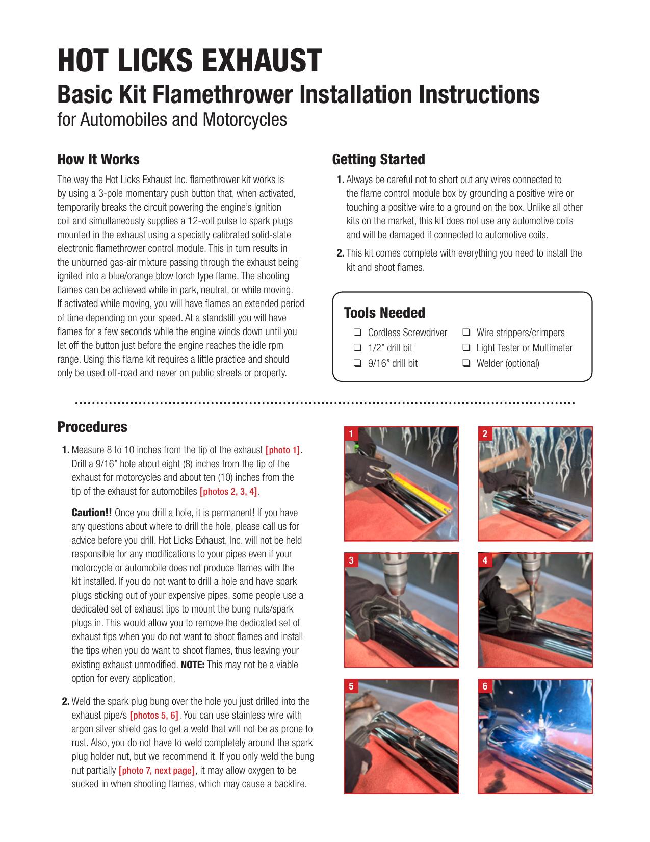 Basic Kit Flamethrower Installation Instructions | manualzz com