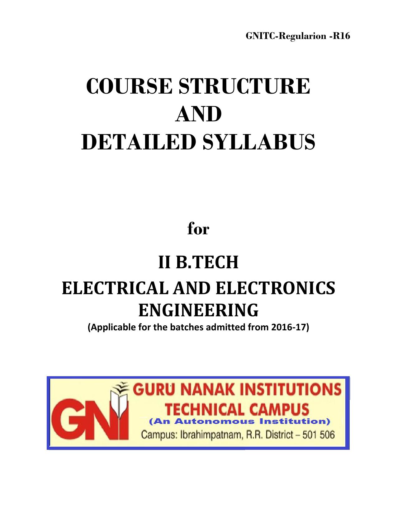 Eee Department Syllabus Guru Nanak Institutions Dc Thevenin Equivalent Example 1 Youtube
