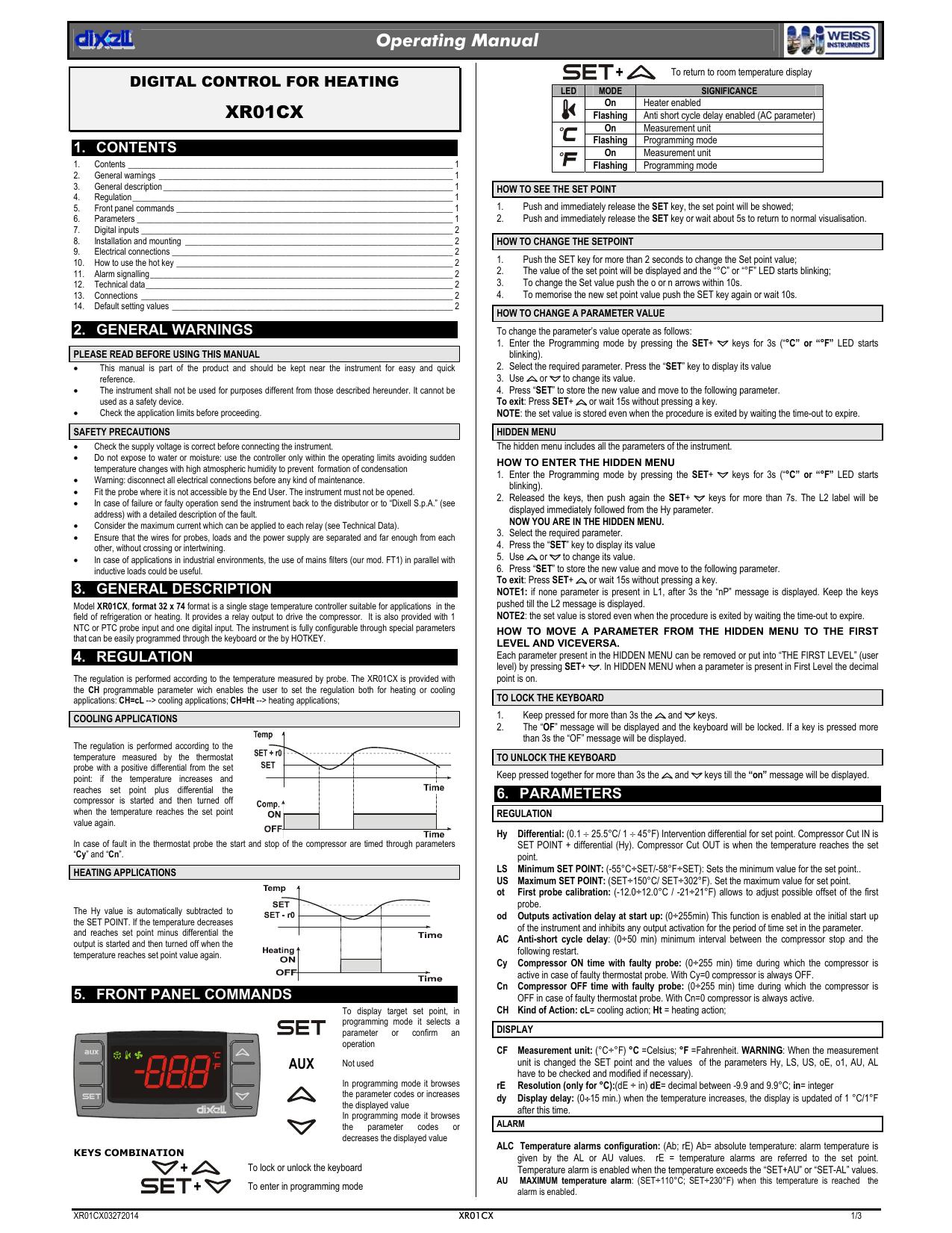Operating Manual Xr01cx Manualzz