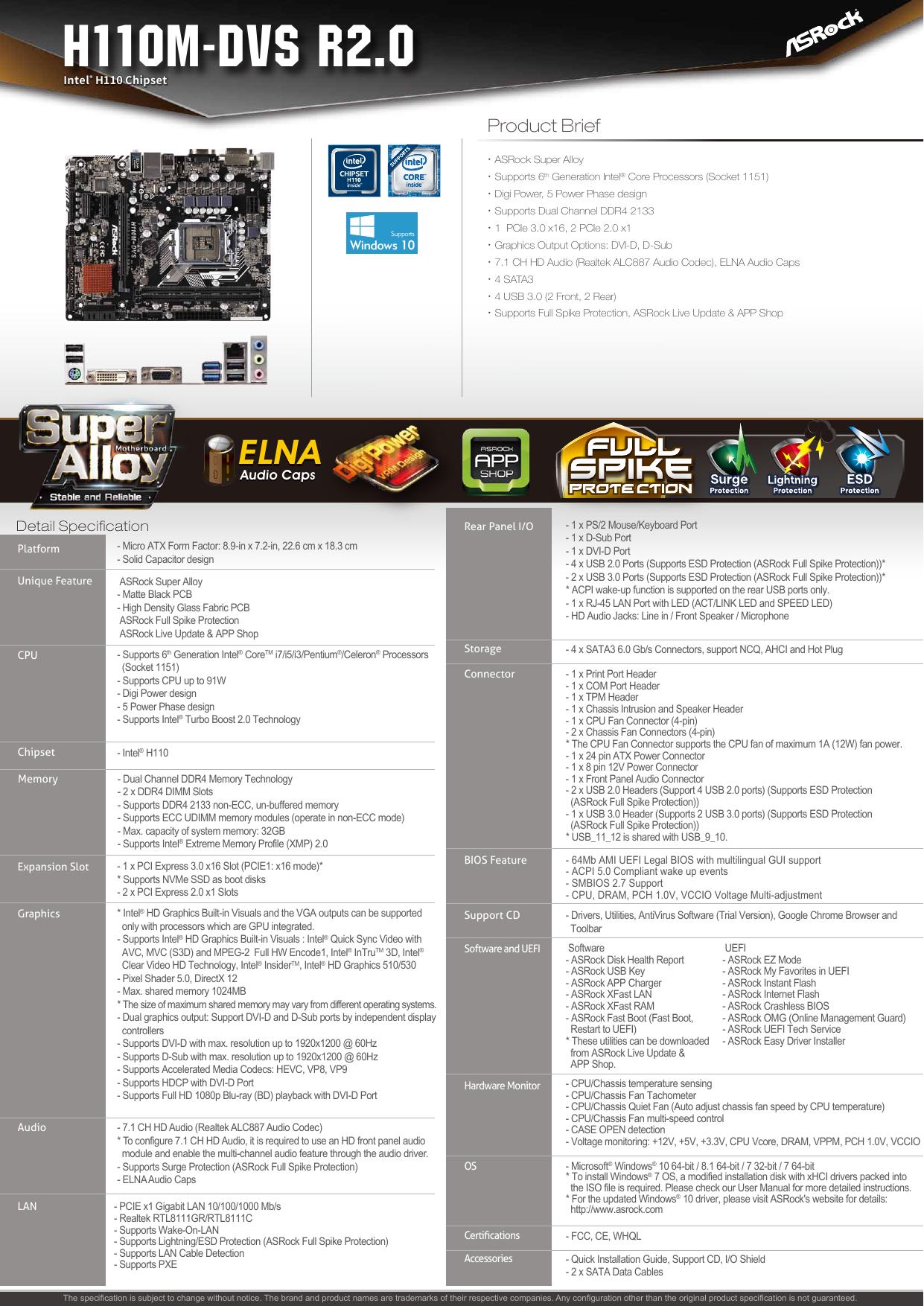 H110M-DVS R2 0 | manualzz com