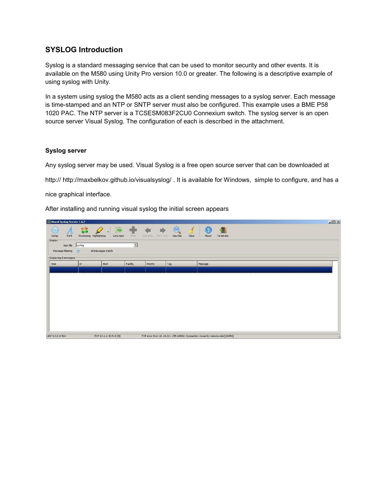 SYSLOG Introduction - Schneider Electric   manualzz com
