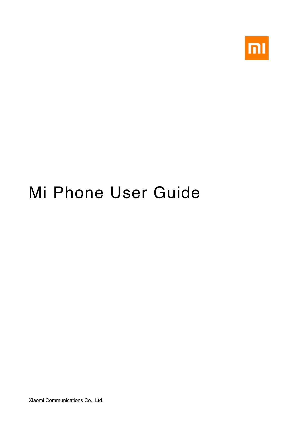 Mi Phone User Guide | manualzz com