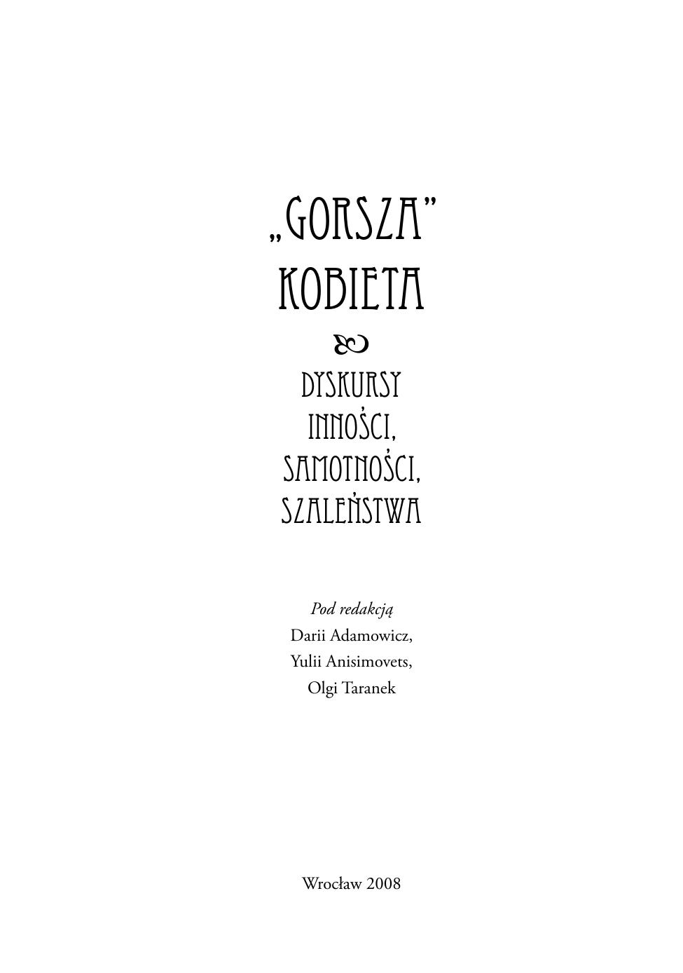 Gorsza Kobieta Instytut Filologii Polskiej Manualzzcom