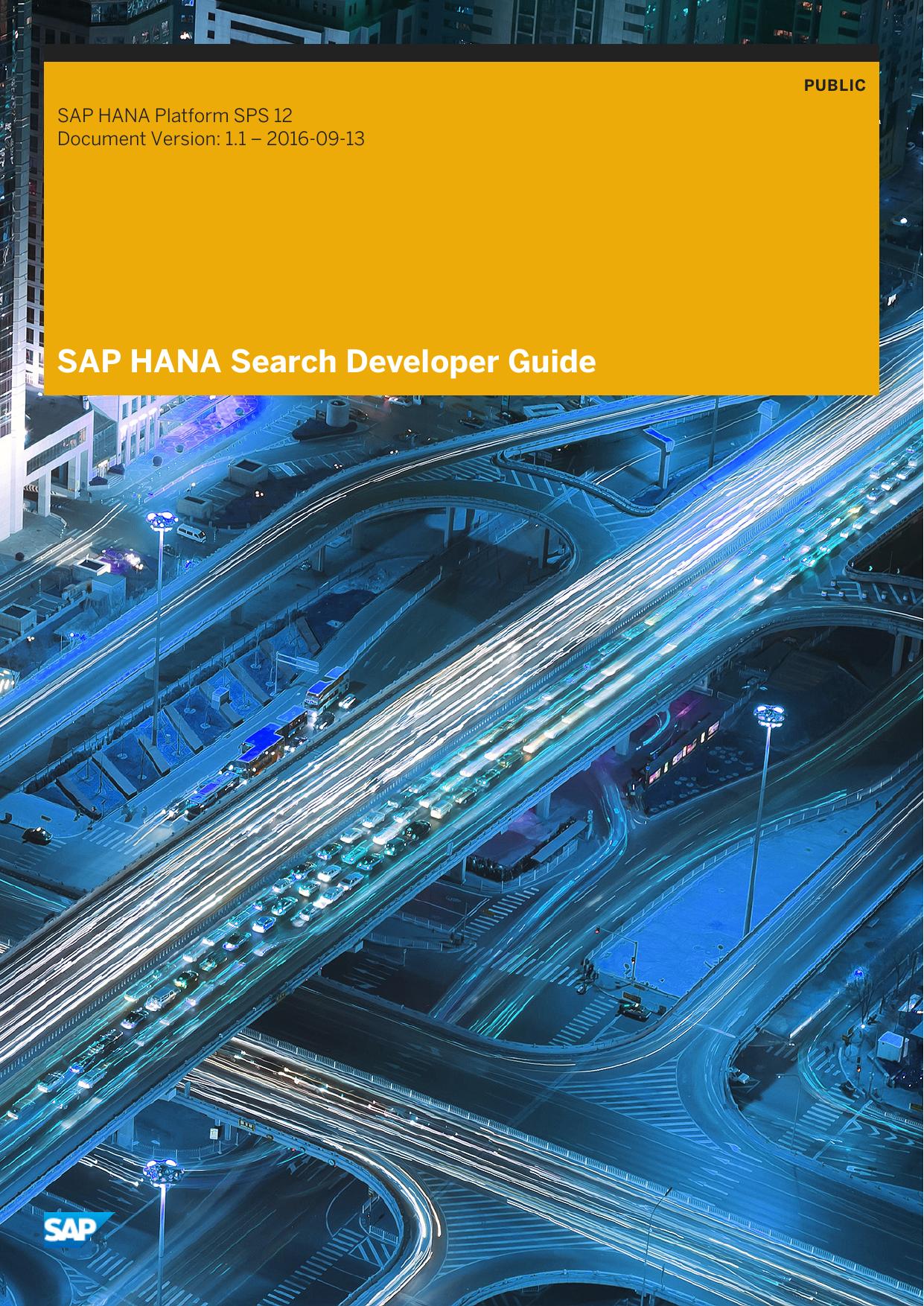 SAP HANA Search Developer Guide | manualzz com