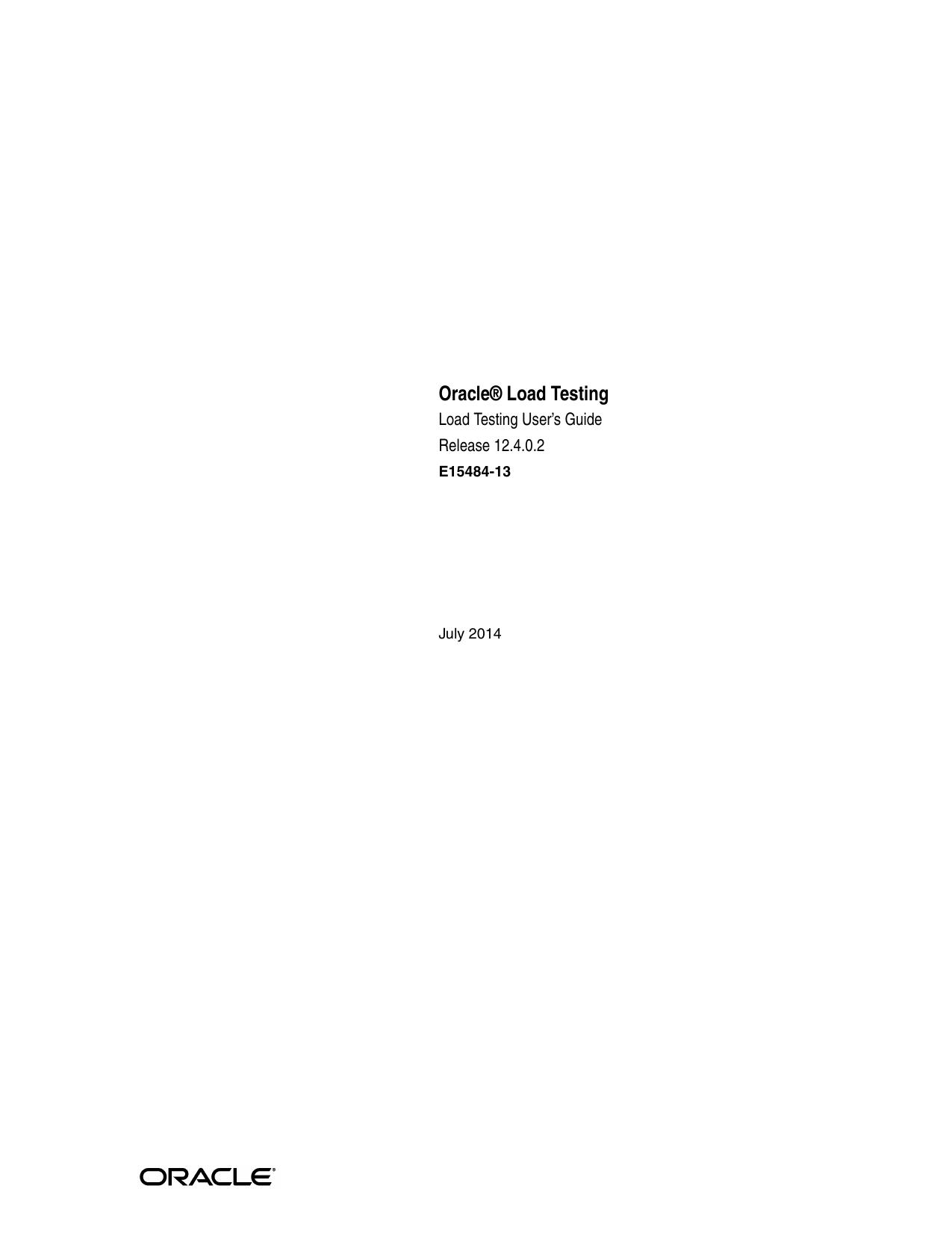 Load Testing User`s Guide Release 12 4 0 2 | manualzz com