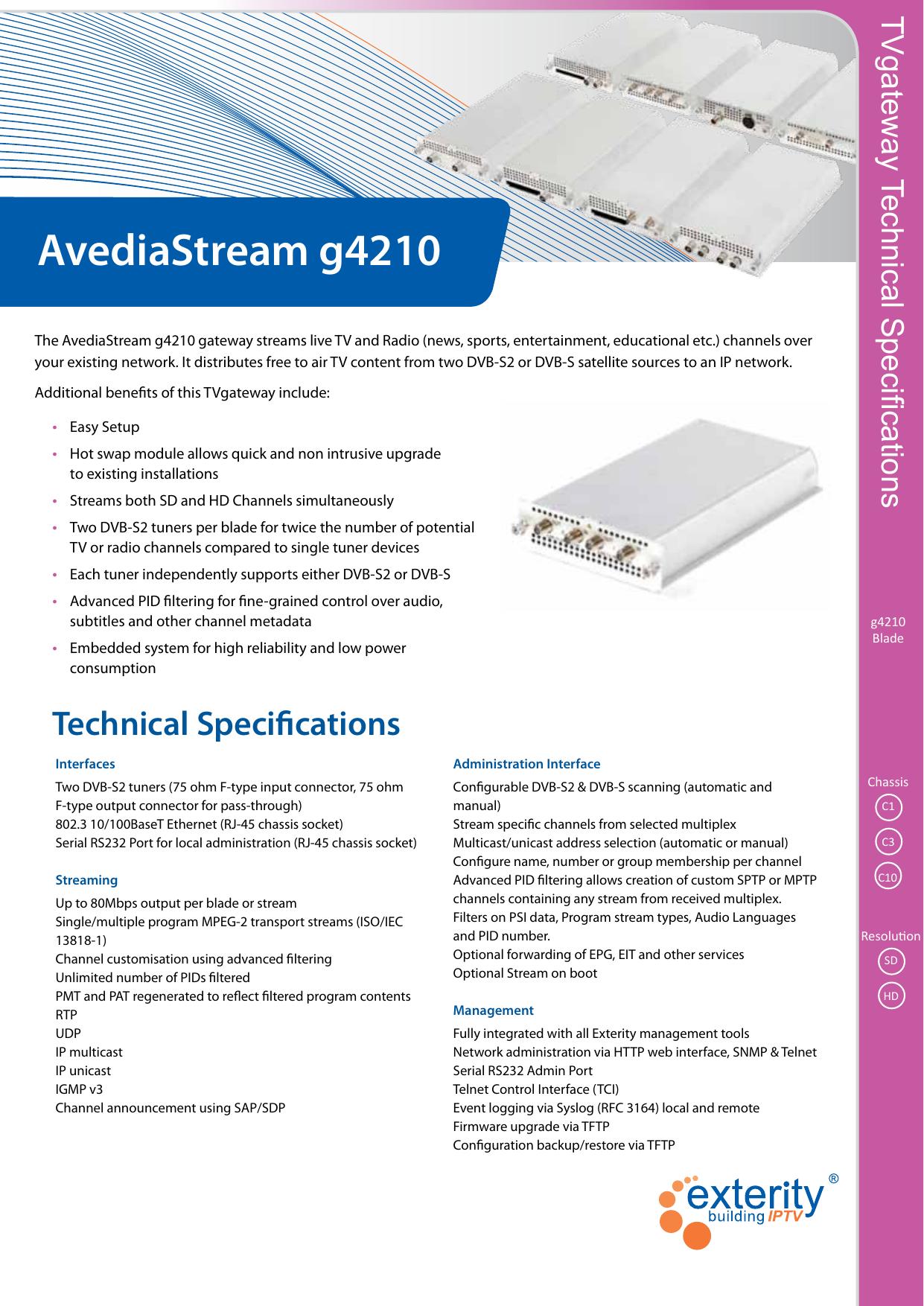 AvediaStream g4210 | manualzz com