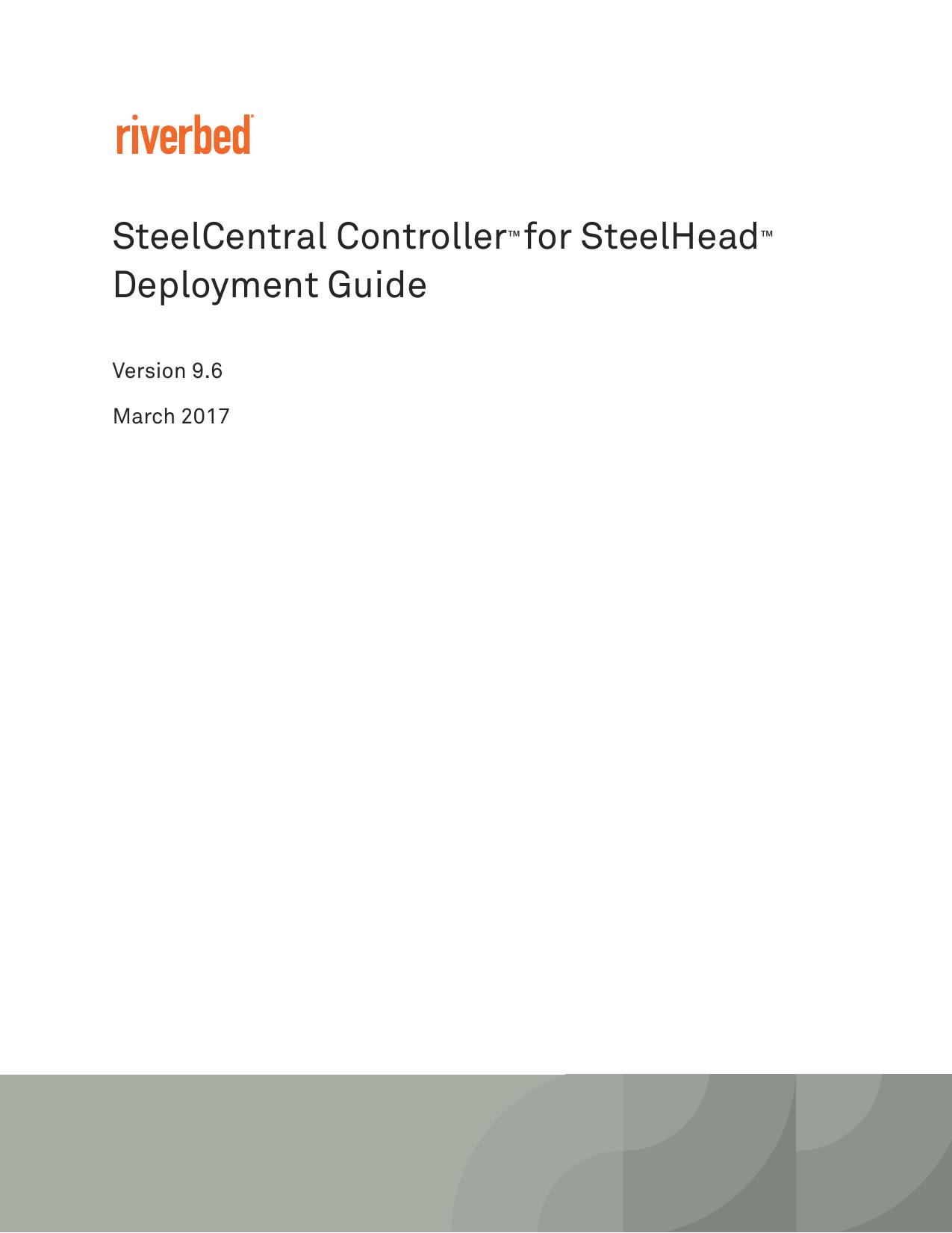 SteelCentral Controller for SteelHead   manualzz com