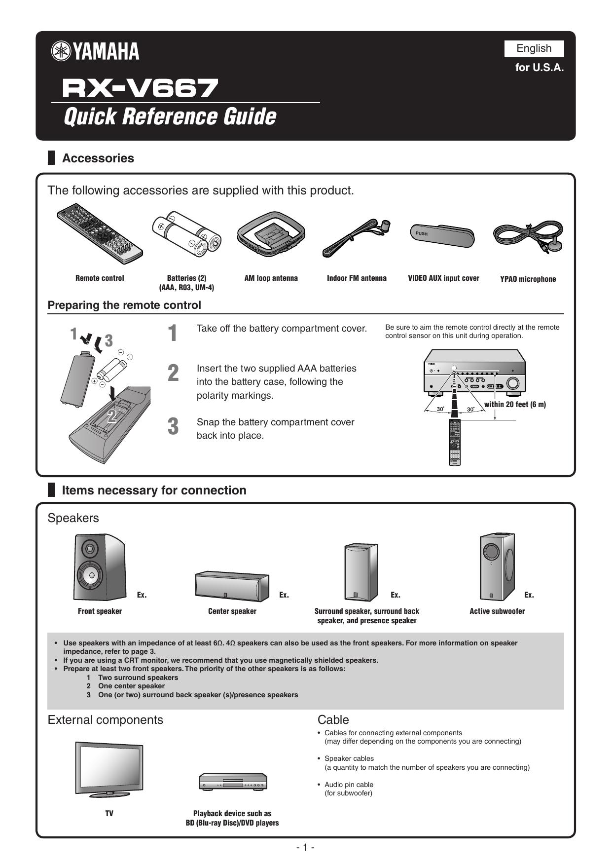 Yamaha RX-V667 User manual | manualzz com