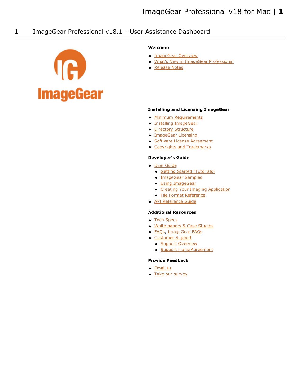 ImageGear Professional v18 for Mac | manualzz com