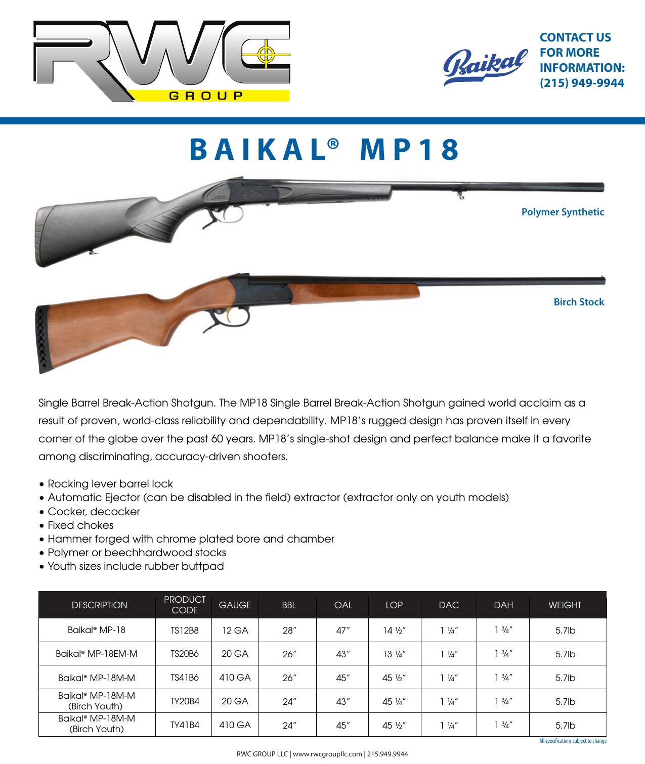 baikal® mp - Kalashnikov USA | manualzz com