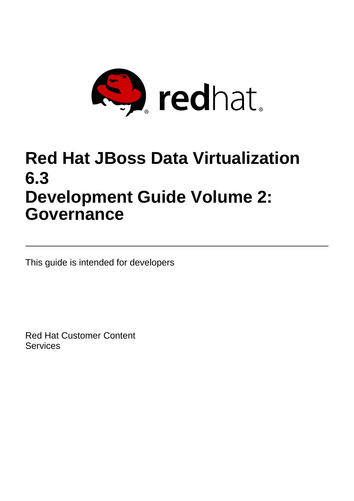 Development Guide Volume 2: Governance | manualzz com