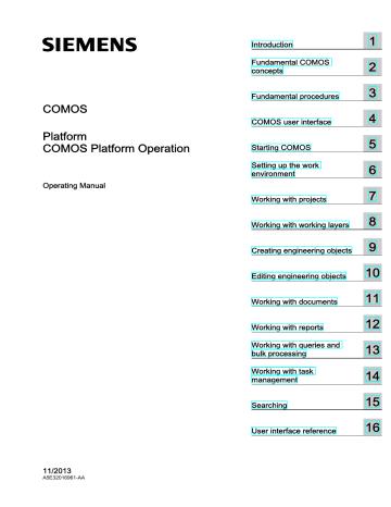 Comos Platform Operation Industry
