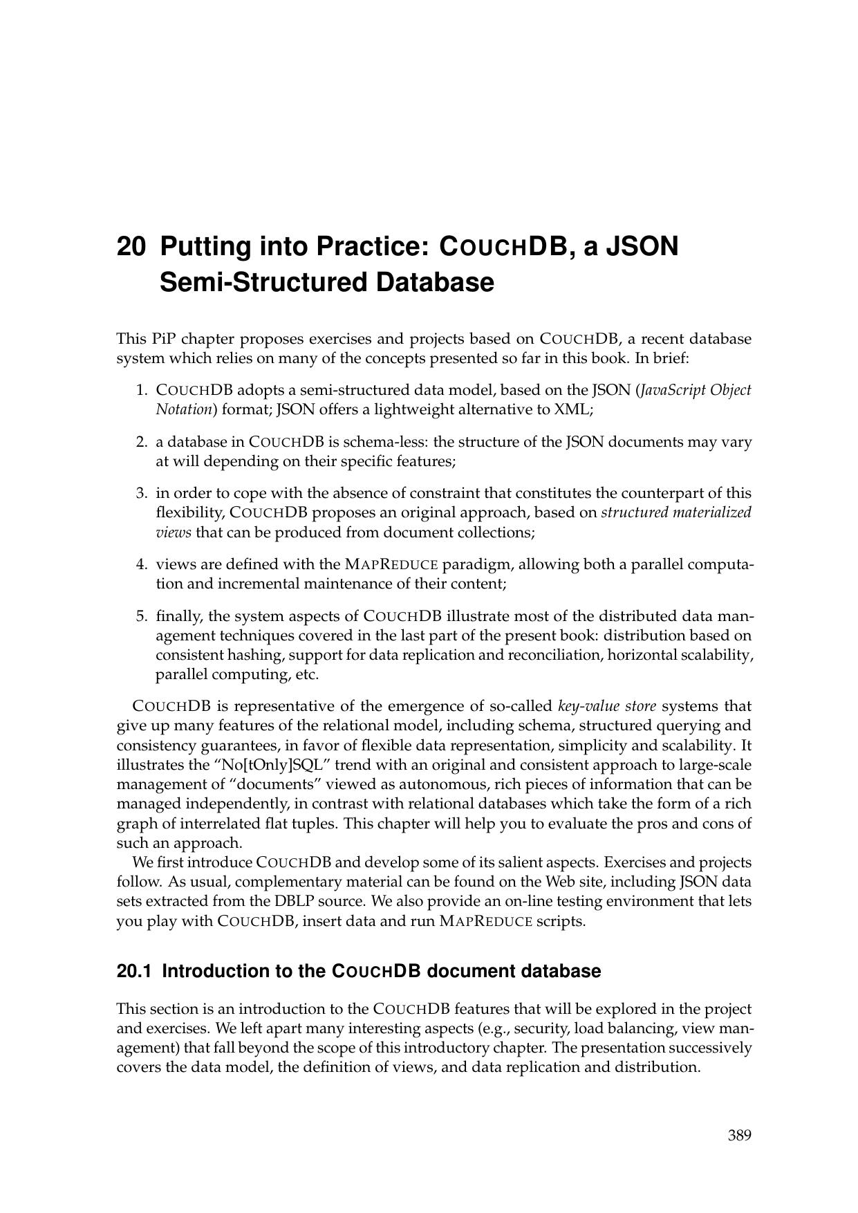 COUCHDB, a JSON Semi-Structured Database | manualzz com