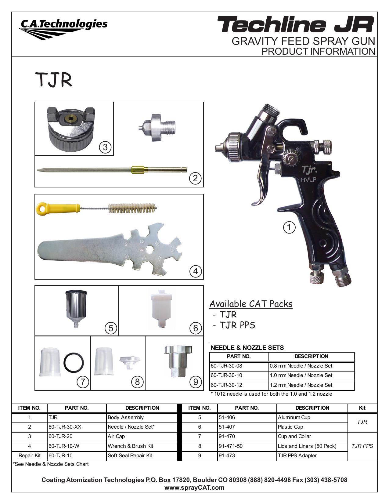 60-TJR-11 Black Spacer C.A Technologies// C.A.T