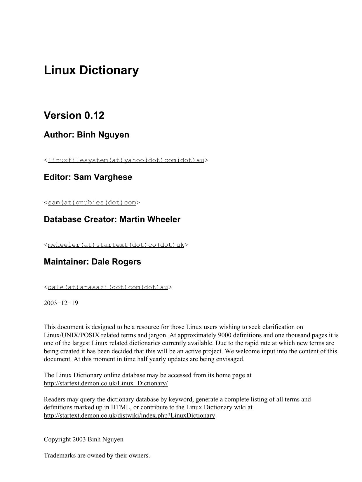 Linux Dictionary - Oxford Handbooks Online | manualzz com