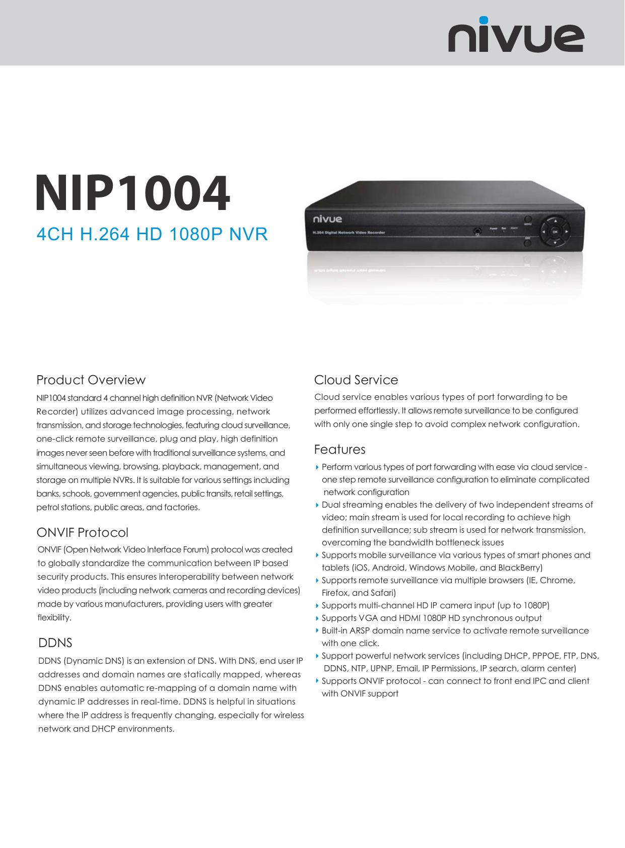 G2198 NIP1004 4CH H 264 HD 1080P NVR(eng) ai | manualzz com