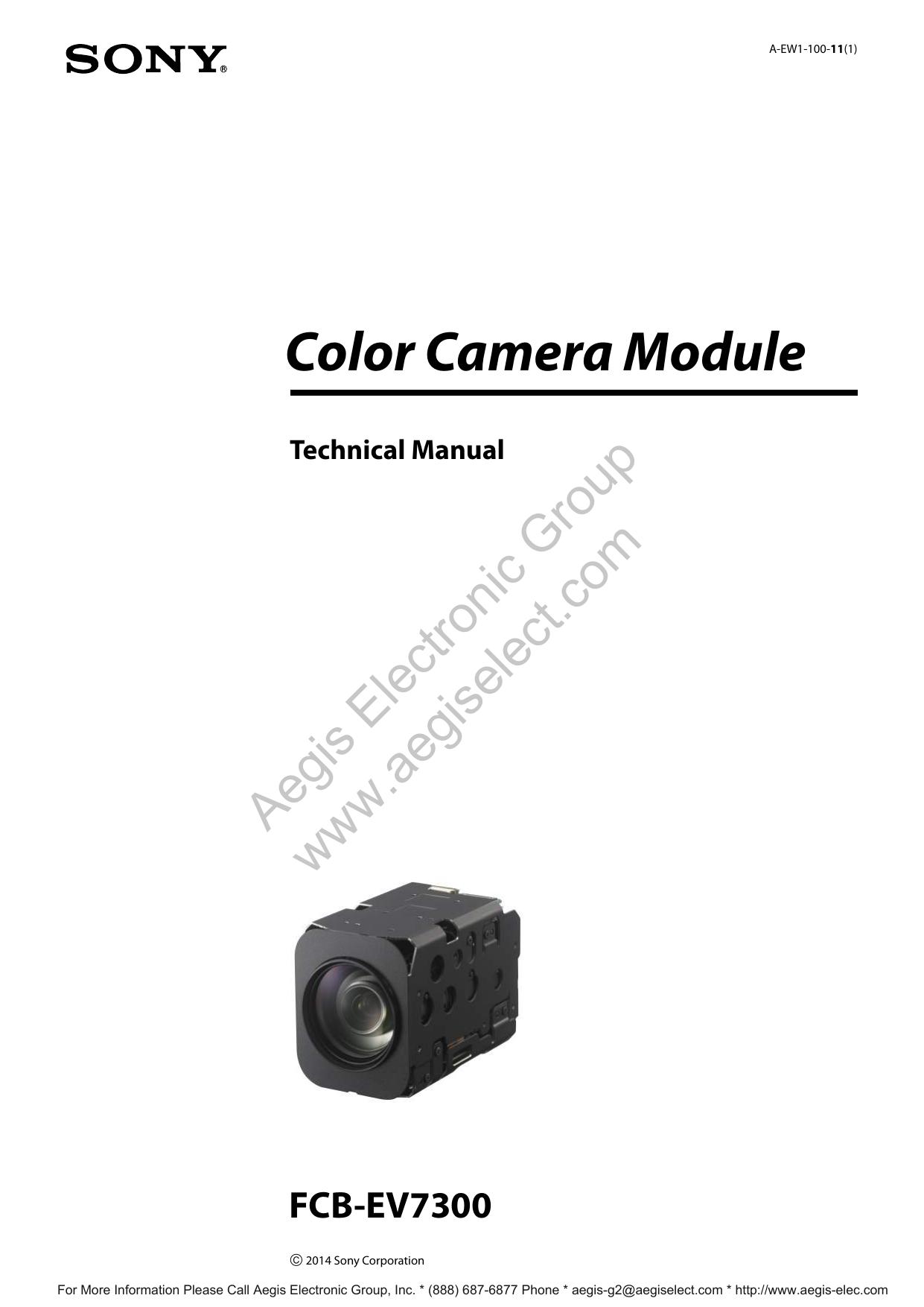 Sony FCB-EV7300 Technical Manual | manualzz com