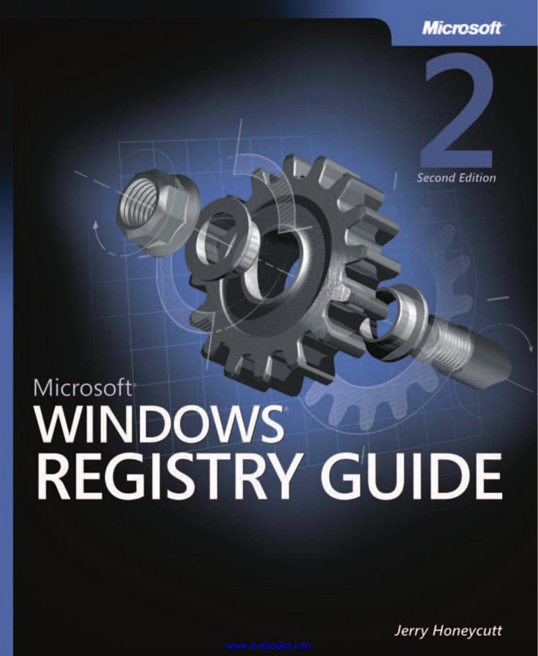 Microsoft Windows Registry Guide 2nd Edition | manualzz com