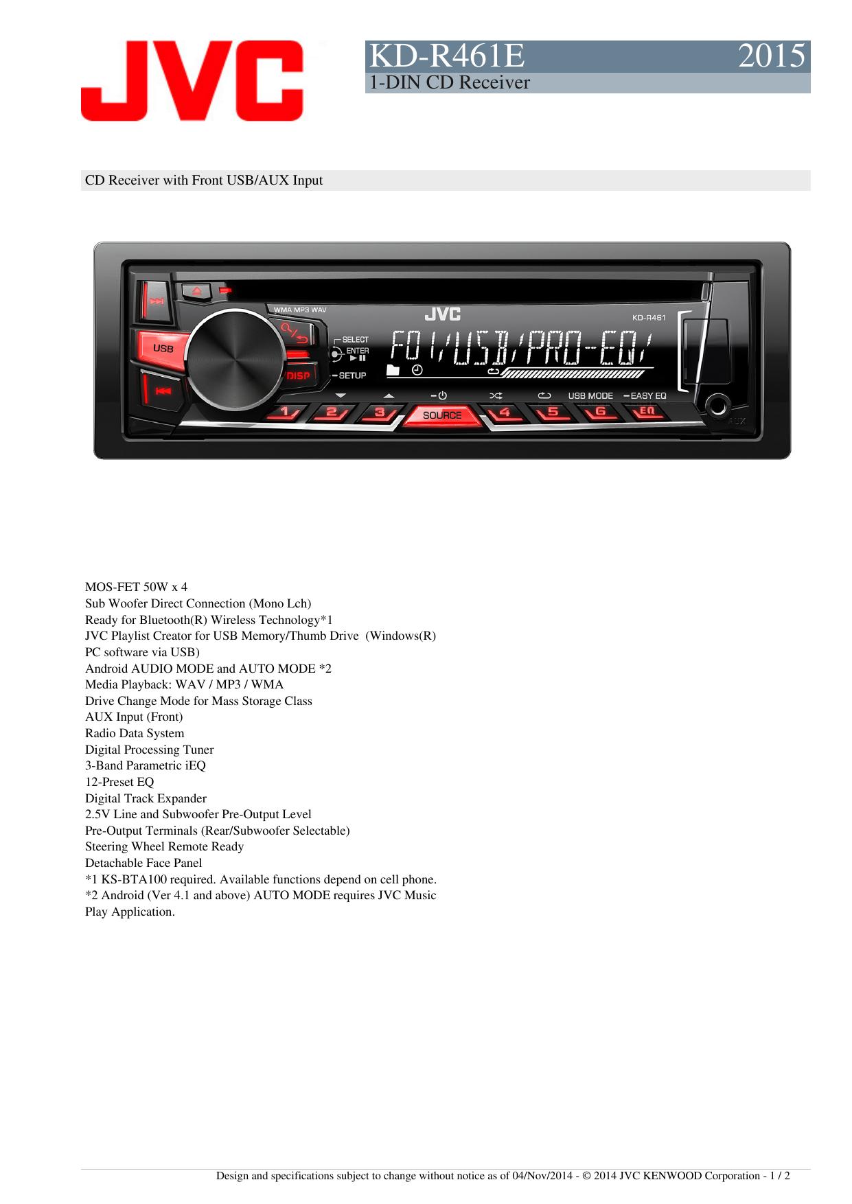KD-R461E 2015 | manualzz com