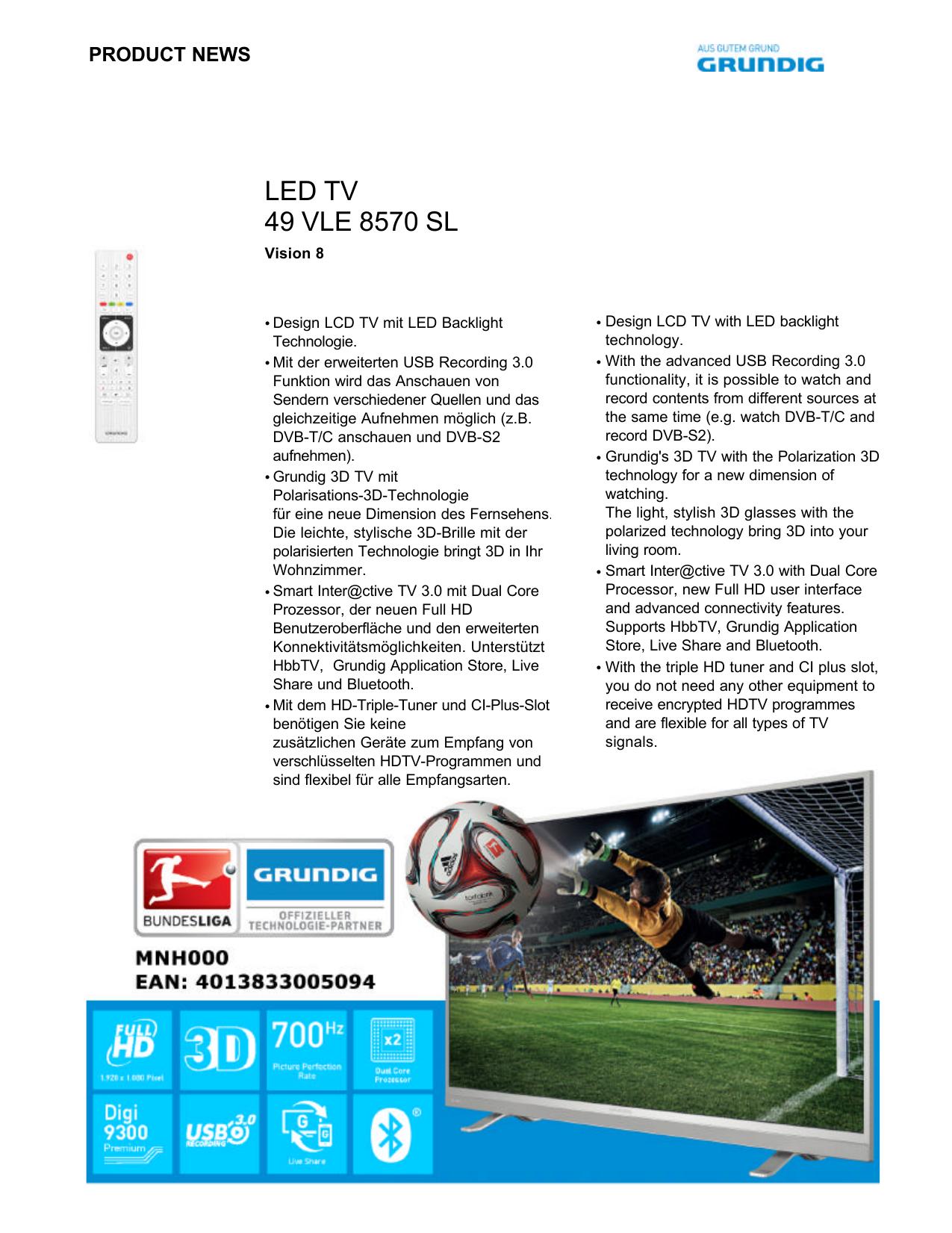 LED TV 49 VLE 8570 SL | manualzz com