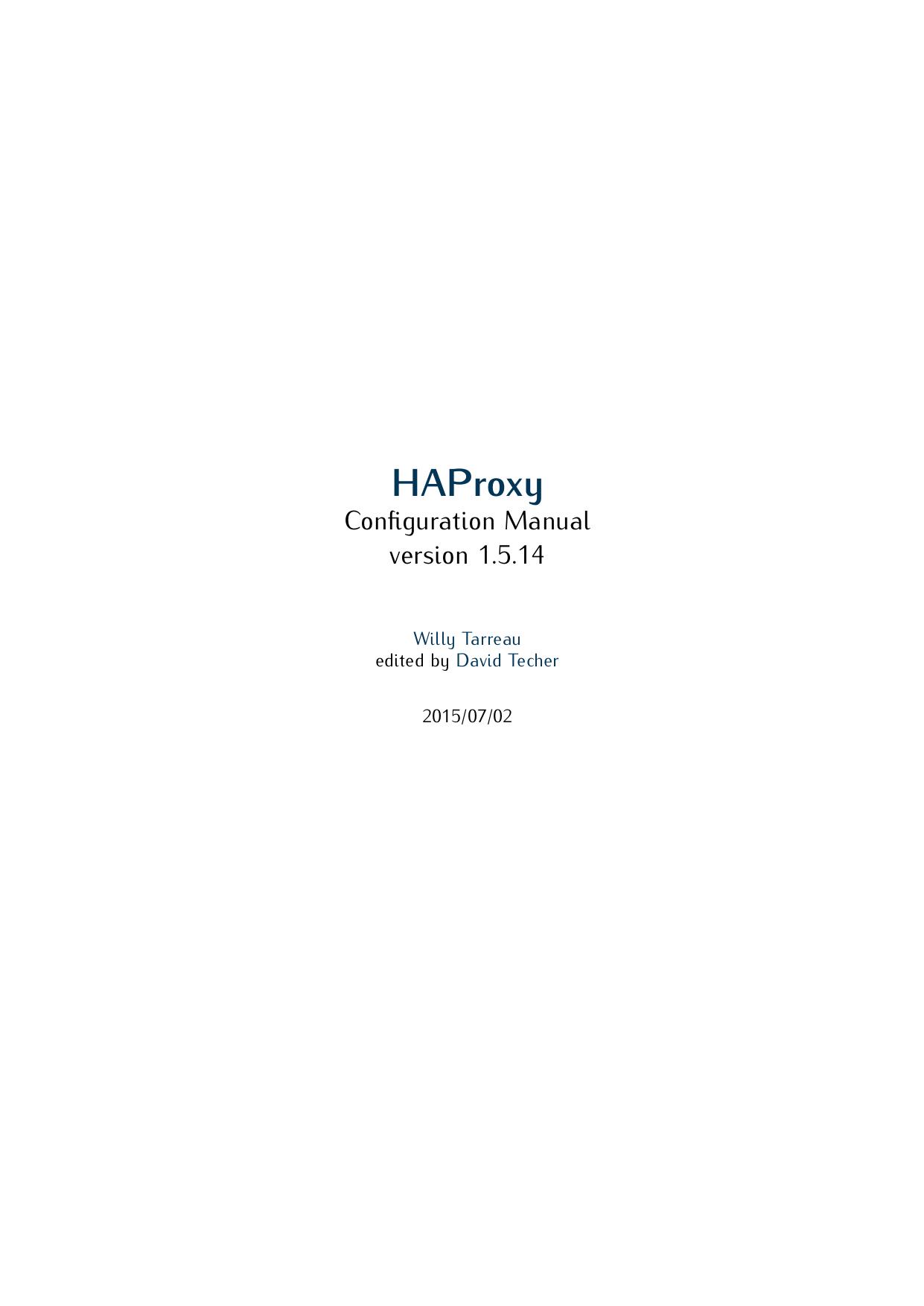HAProxy Configuration Manual v1 5 14 | manualzz com