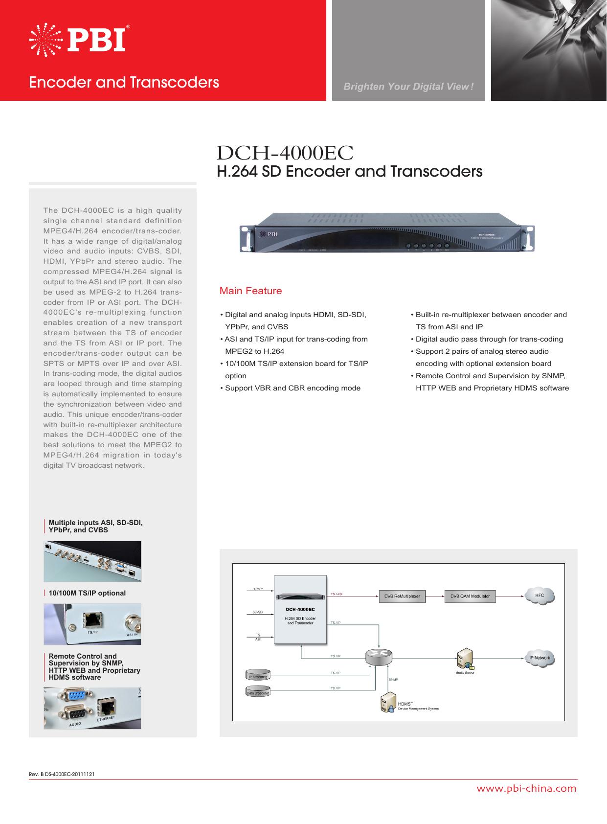 Dch 4000ec Stereo Coder Multiplexer