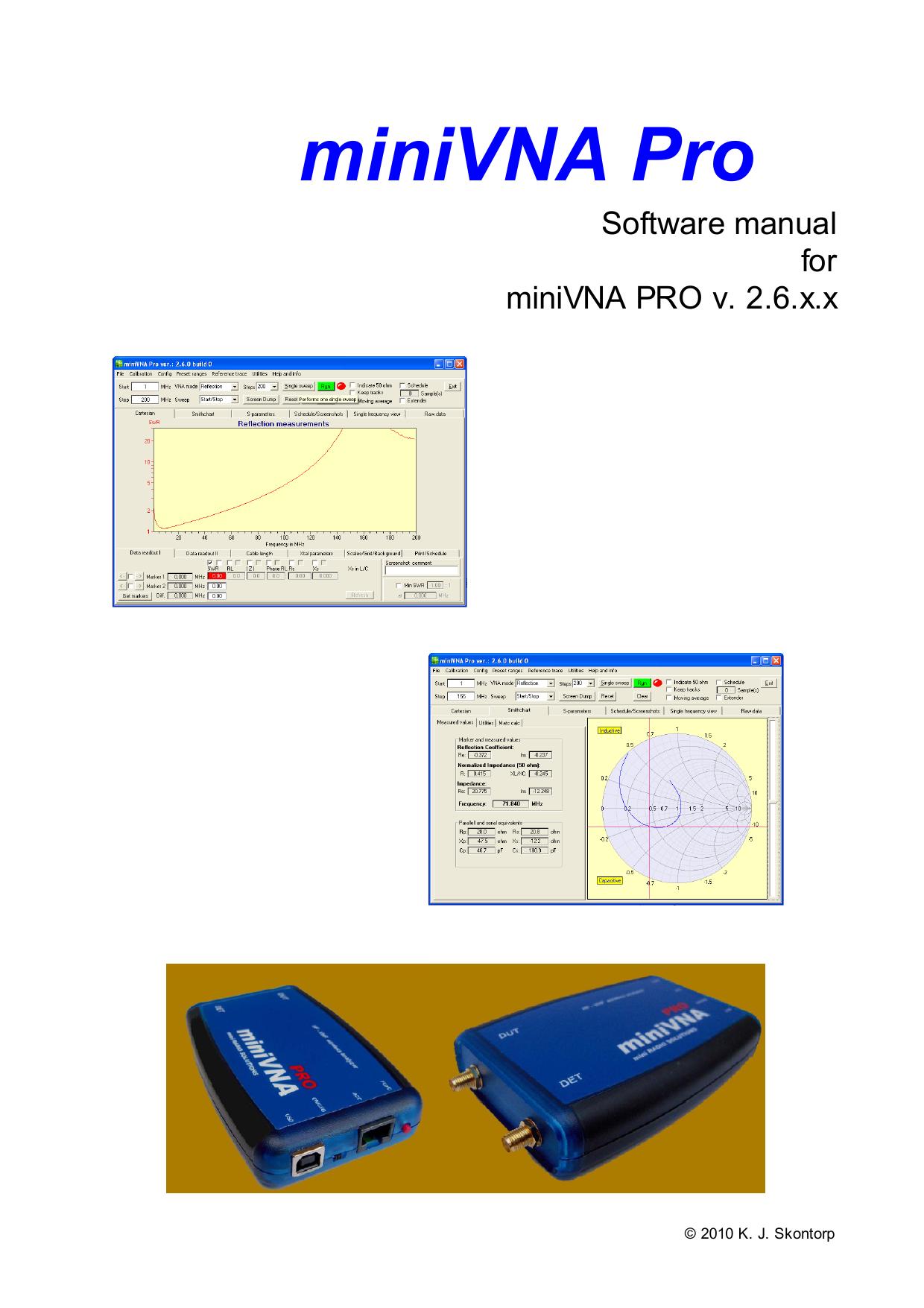 miniVNA Pro - GIANORA-HSU | manualzz com